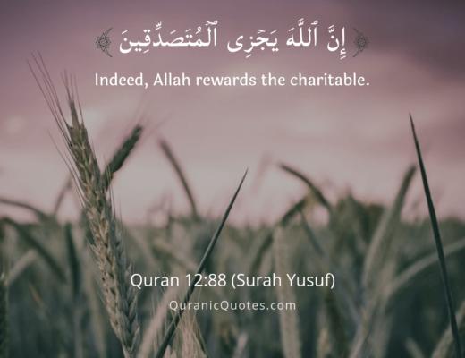 #391 The Quran 12:88 (Surah Yusuf)